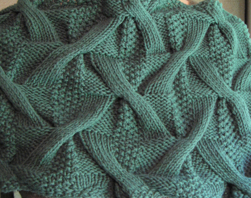 Double Moss Stitch Knitting In The Round : Bohemica