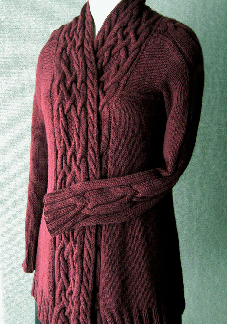 waterfall sweater knitting pattern ladies sweater patterns