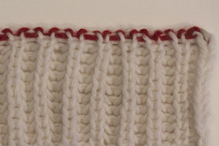 Sunday Knits Techniques Italian Bind Off Onto Provisional Cast On